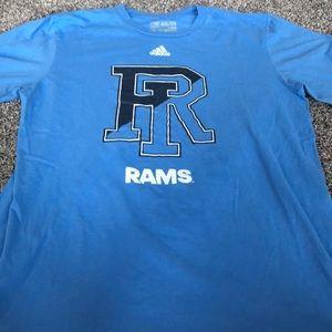 Adidas shirt sleeve Rhode Island Rams tee